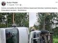 Na Facebooku sa cez víkend objavila informácia o autonehode Sendreiovcov.
