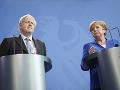 Angela Merkelová a Boris Johnson