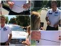 VIDEO drzého policajta trhajúceho slúchadlá: Pobúrená verejnosť, skutočnosť je však úplne iná