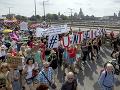 Desaťtisíce ľudí pochodovalo v Drážďanoch: Demonštrovali protixenofóbii a rasizmu