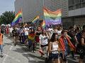 Účastníci 7. ročníka pochodu PRIDE Košice 2019 za práva LGBTI komunity