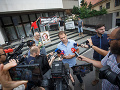 Protest pred ministerstvom spravodlivosti: OĽaNO žiada odvolanie Moniky Jankovskej