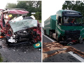 FOTO Českú rodinu delila od domova hodina cesty: Kolízia s kamiónom, zahynuli rodičia aj dve deti