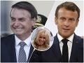 Medzinárodná hanba! Brazílsky prezident urazil Macronovu ženu, ten mu to vrátil aj s úrokom