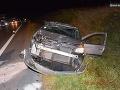 Vodička sa chcela vyhnúť zrážke s diviakom, auto skončilo na streche