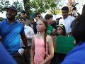Stovky mladých demonštrovali pred centrálou OSN: Pridala sa k nim aj Greta Thunbergová