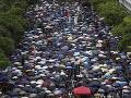 Protesty v Hongkongu pokračujú: Demonštranti žiadajú o pomoc prezidenta Trumpa