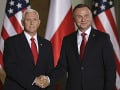 Mike Pence a Andrzej Duda