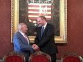 Primátor Košíc Polaček privítal v radnici exprezidenta Schustera ako občana