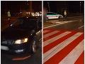 Dopravná nehoda na priechode pre chodcov v Košiciach.