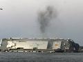 FOTO Záchranári vyslobodili všetkých námorníkov: Uviazli v prevrátenej lodi