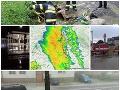 Škody po intenzívnych búrkach, ktoré zasiahli takmer celé Slovensko.