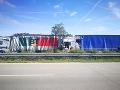 Nehoda kamiónov na D2 pri Brne