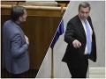 Igor Matovič a Andrej Danko počas slovnej prestrelky