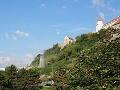 FOTO Incident pod hradom: V Bratislave striekal prúd vody do obrovskej výšky