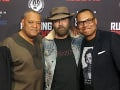 Laurence Fishburne, Nicolas Cage a Jason Cabell na premiére filmu Running with the Devil.