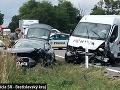 PRÁVE TERAZ Hromadná nehoda pri Pezinku: Ťažké zranenia utrpel manželský pár, úsek je neprejazdný