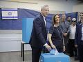 Parlamentné voľby v Izraeli vrcholia: Ganc je vo vedení, výsledky potvrdili patovú situáciu