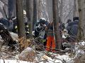 Miesto po havárii slovenského vojenského lietadla