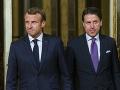 Emmanuel Macron a Giuseppe Conte