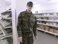 Sklad vojenských odevov v Nemšovej