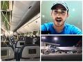 Let ako z hororu! VIDEO Prudké klesanie v priebehu pár minút, cestujúci sa lúčili s príbuznými