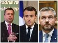 Andrej Danko, Emmamuel Macron a Peter Pellegrini
