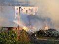 Požiar skladu slamy v areáli teplárne Trebišovská