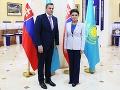 Andrej Danko a predsedníčka hornej komory parlamentu (Senátu) Dariga Nazarbajevová