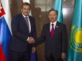 Andrej Danko a predseda Mažilisu - dolnej komory kazašského parlamentu Nurlan Nigmatulin