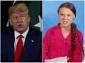 Donald Trump a Greta Thunberg