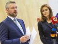 Predseda vlády Peter Pellegrini a ministerka zdravotníctva Andrea Kalavská