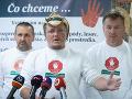 FOTO Nespokojní farmári z protestov požiadali o registráciu strany Máme toho dosť!