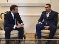 Macron sa stretol so Sencovom: Obhajuje prítomnosť Ruska v Rade Európy