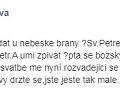 Veronika Žilková sa poriadne prekecla. Potom si to zrejme uvedomila a status upravila.