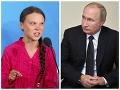 Putin si zobral na paškál aktivistku Gretu: Bojovníčka (16) za budúcnosť klímy reagovala ironicky