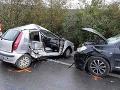 FOTO Tragická zrážka pri Košiciach: Žena nemala šancu prežiť, v druhom aute boli malé deti