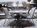 Sneh vo Vysokých Tatrách na Štrbskom plese