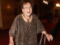 Ďalšia smutná správa z Česka: Vo veku 92 rokov zomrela legendárna herečka Vlasta Chramostová