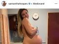 Samantha Hoopes sa počas tehotenstva podelila so svetom aj o takýto intímny záber.