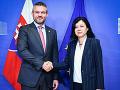Mimoriadne stretnutie Pellegriniho s eurokomisárkou pre spravodlivosť: Riešili aktuálnu situáciu na Slovensku