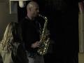 Matej všetkých prekvapil hrou na saxofón.