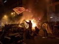 FOTO Peklo v Katalánsku pokračuje: Ohnivé nepokoje a chaos, desiatky zranených