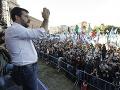 Obrovský protest v Ríme: Do ulíc vyšli tisíce Salviniho sympatizantov, žiadali demisiu vlády