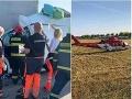 Dráma počas policajnej kontroly pri Galante: Zasahovali leteckí záchranári, desivé FOTO nehody