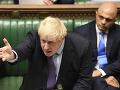 Boris Johnson počas včerajšieho rokovania v parlamente