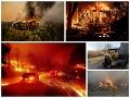 Ohnivé peklo v Kalifornii: VIDEO Evakuácia 50-tisíc ľudí kvôli obrovským požiarom, obavy z tragédie