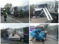 PRÁVE TERAZ Dvaja mŕtvi pri Hlohovci po zrážke dodávok: FOTO Policajti odkláňajú dopravu