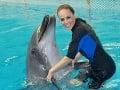 Karin Haydu absolvovala aj jašenie s delfínmi.