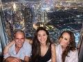 Karin Haydu si odskočila do Dubaja s dcérou Vanesou a otcom Jurajom.